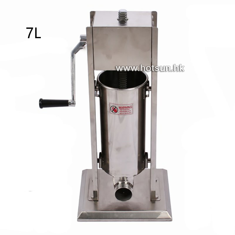 Free Shipping 7L Commercial Stainless steel Vertiacal Sausage Maker Stuffer Making Sausage and Churros