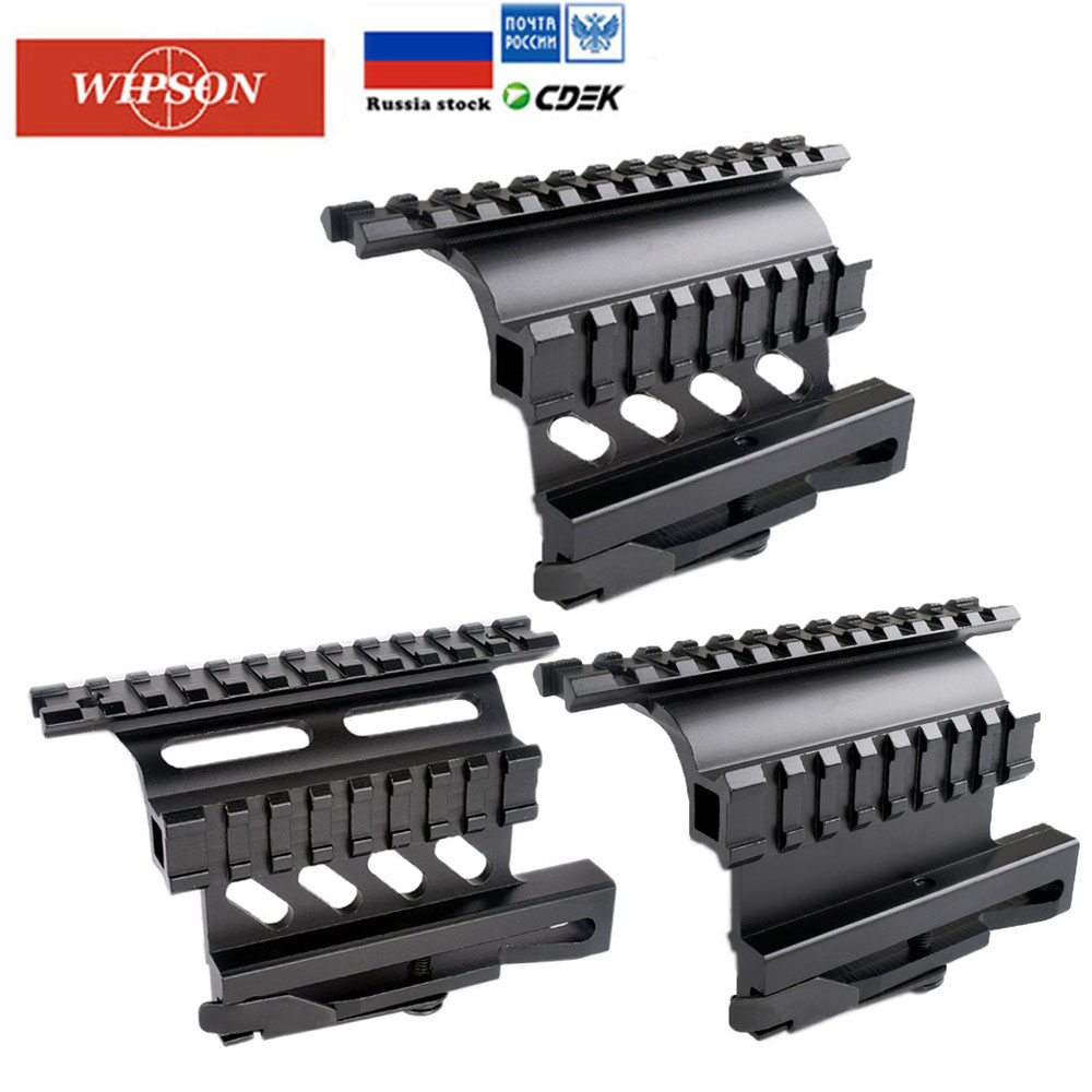 WIPSON Quick Release AK Serie Rail Side Mount Quick QD Style AK47 AK74 SAIGA Detach 20mm Weaver Rail For Hunting Airsoft Scope