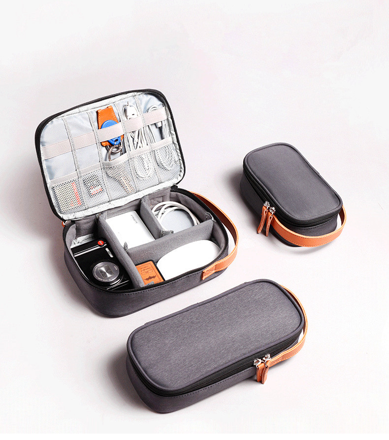 Soft Travel Hard Drive Case Bag Electronic Device For GPS Mobile Phone Charging Adapater USB Cable Charger Organizer Power Bank