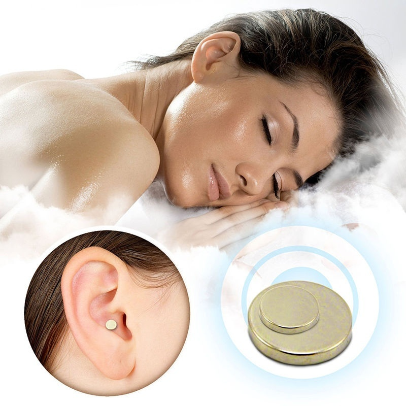 2 PCS Magnet Auricular Quit Smoking Zerosmoke Acupressure Patch Not Cigarettes Health Therapy Tool