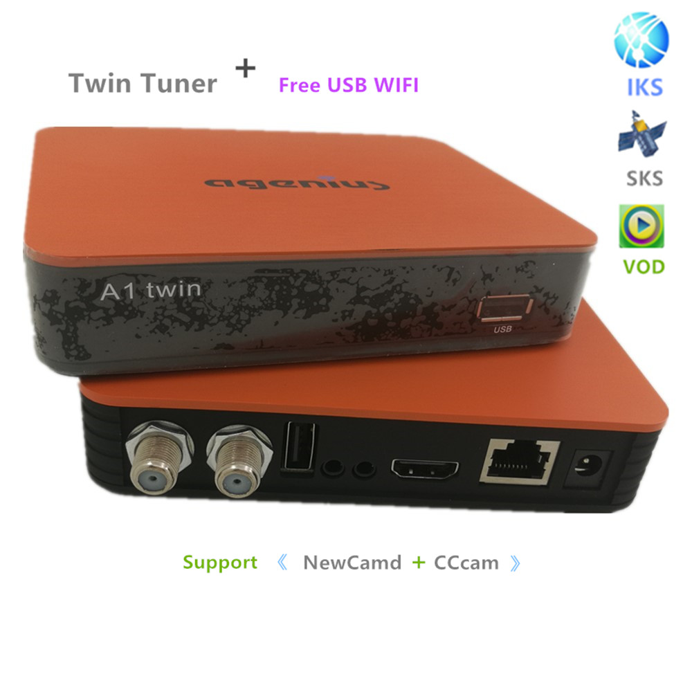 2PS New Satellite receiver Support VOD IPTV Youtube With WIFI ACM IKS Free SKS Free DVB-S2