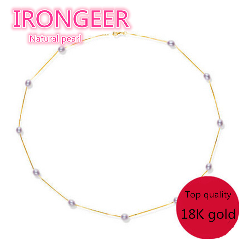 Genuine S925 Sterling silver choker necklace 8-9mm 100% natural pearl pendants & necklaces for women Free shipping