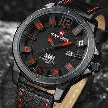 Luxury Brand NAVIFORCE Men's Quartz Sports Watches Men Analog Date Clock Man Leather Strap Military Wristwatch Relogio Masculino