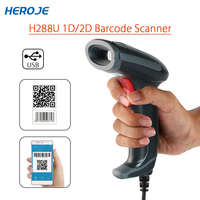 Heroje H288U Barcode Scanner QR Code Scanner Portable Wired 1D 2D USB Bar Code Reader For Windows DataMatrix PDF417