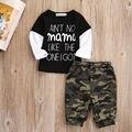 Bebé recién nacido Niños Niños Casual Tapas de La Camiseta + Pantalones Largos de Algodón Outfit Ropa Set