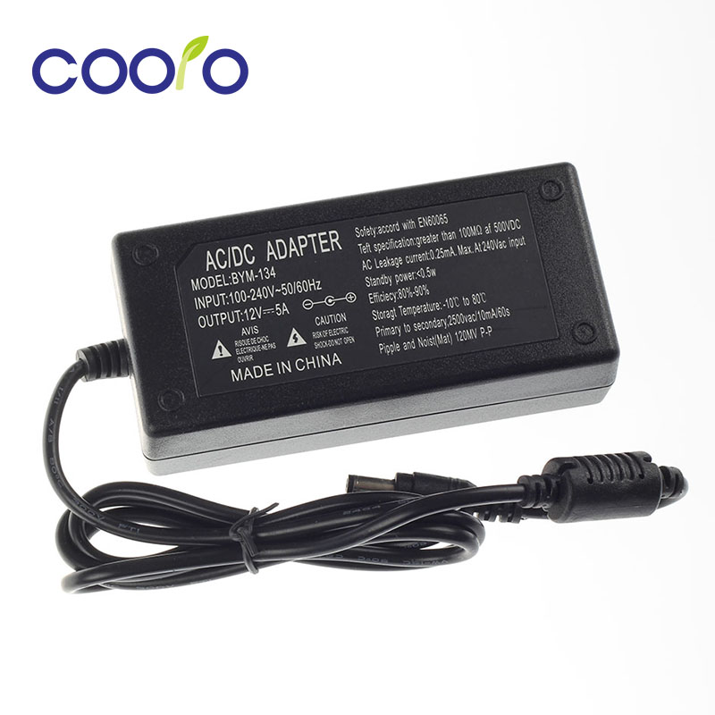 12V 5A AC-DC power adapter for led strips
