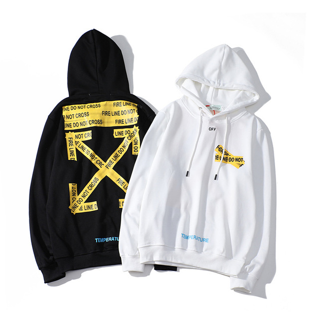 off white hoodie brand black and white xx trend fashion hoodie-in