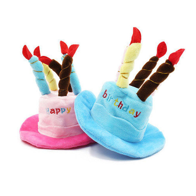 Pet Birthday Hat For Small Cats Puppy Dogs Cute Cake Candles Design Dog Cap