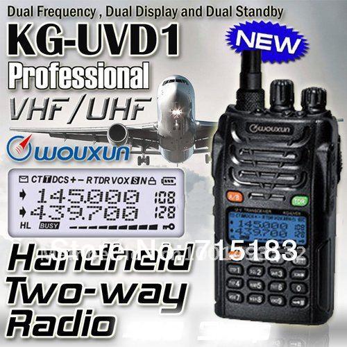 Original bærbar radio Hot sale Dual Band Dual Display WOUXUN KG-UVD1P VHF & UHF Tovejs radio Wouxun KG UVD1P WALKIE TALKIE