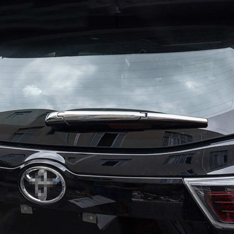Car Styling For Toyota Highlander 2014 2015 2016 ABS Chrome Rear Window Wipers Back Winscreen Wiper Cover Trim Auto Parts 3Pcs