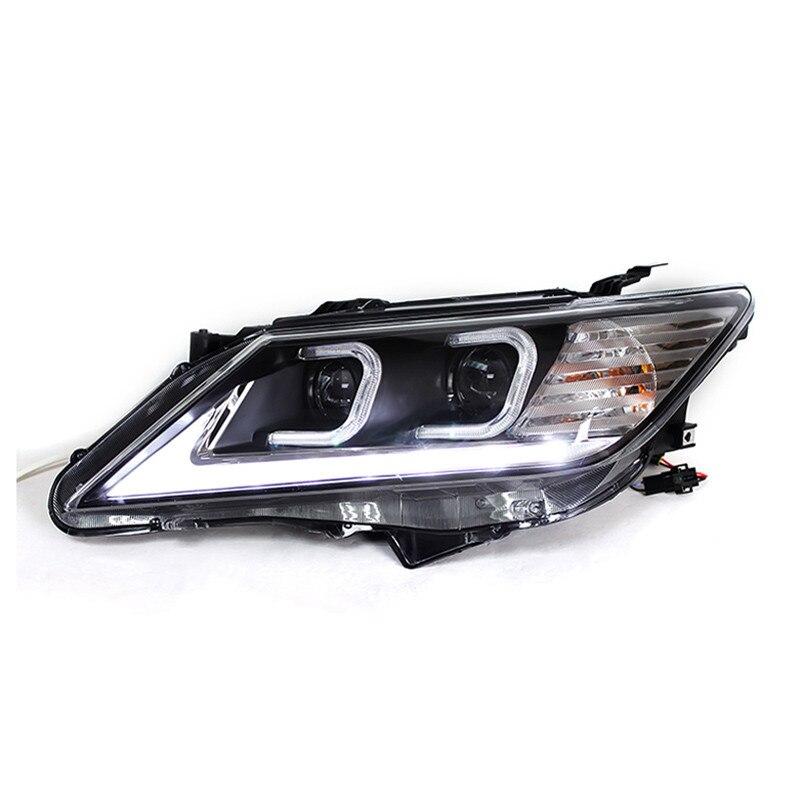 Ownsun светодиод крючке ДХО HID Биксеноновая проектора Len фар для Toyota Camry 2012 2013