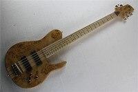 Uma peça-set pescoço através do corpo da borboleta Fodera Imperial 5 cordas graves da guitarra elétrica com 9 V Captadores Ativos