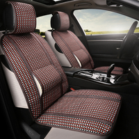 Linen Fabric Car Seat Cover Summer breathable seat cushion For VolksWagen Toyota Polo Chevrolet KIA BYD