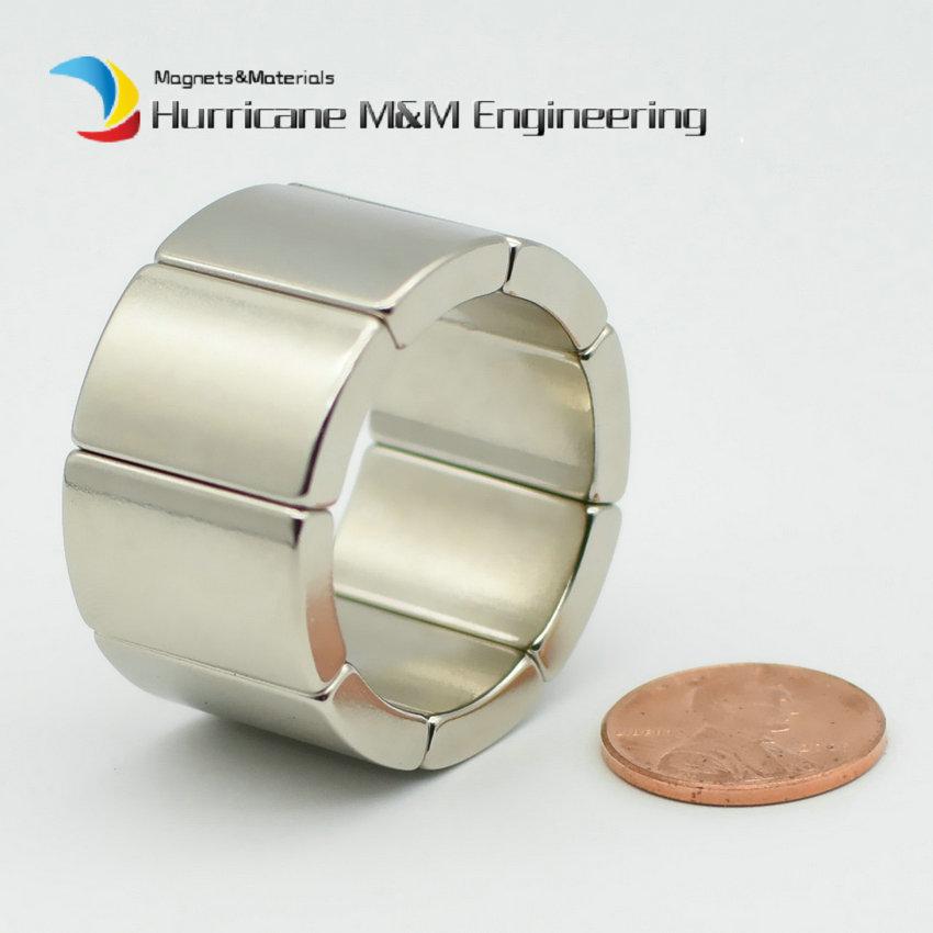 Image 2 - NdFeB Magnet Arc OR18xIR14x45degxT20 mm N42H Motor Magnet for Generators Wind Turbine Neodymium Permanent Rotor Segment 8 240pcs-in Magnetic Materials from Home Improvement