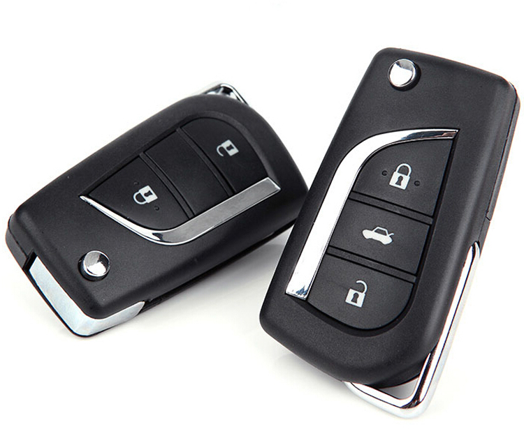 <font><b>2014</b></font> Brand New ! 2 Buttons/3 Buttons Modified Flip Folding Remote <font><b>Key</b></font> <font><b>Case</b></font> Shell For <font><b>Toyota</b></font> Camry Reiz <font><b>RAV4</b></font> Vios <font><b>Key</b></font> Fob Cover image