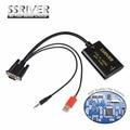 SSRIVER VGA для HDMI Конвертер 1080 P Конвертер HD Аудио-видео Преобразователя HDTV Видео Кабель VGA2HDMI Адаптер Для TV PC