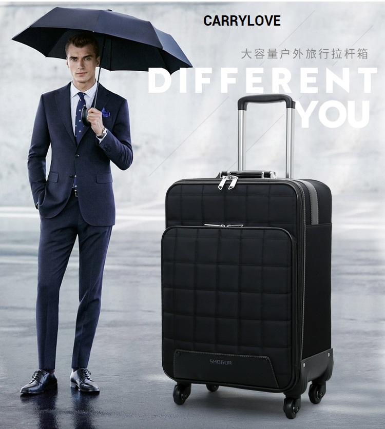 CARRYLOVE 2018 Business luggage 16/20/24 size fashion PU Rolling Luggage Spinner brand Travel Suitcase vintage suitcase 20 26 pu leather travel suitcase scratch resistant rolling luggage bags suitcase with tsa lock