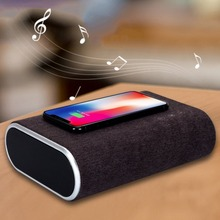 F176 Smart Wireless Charger Bluetooth Speaker Stereo Music Player Portable Travel Quick Charging Adapter For Mobile