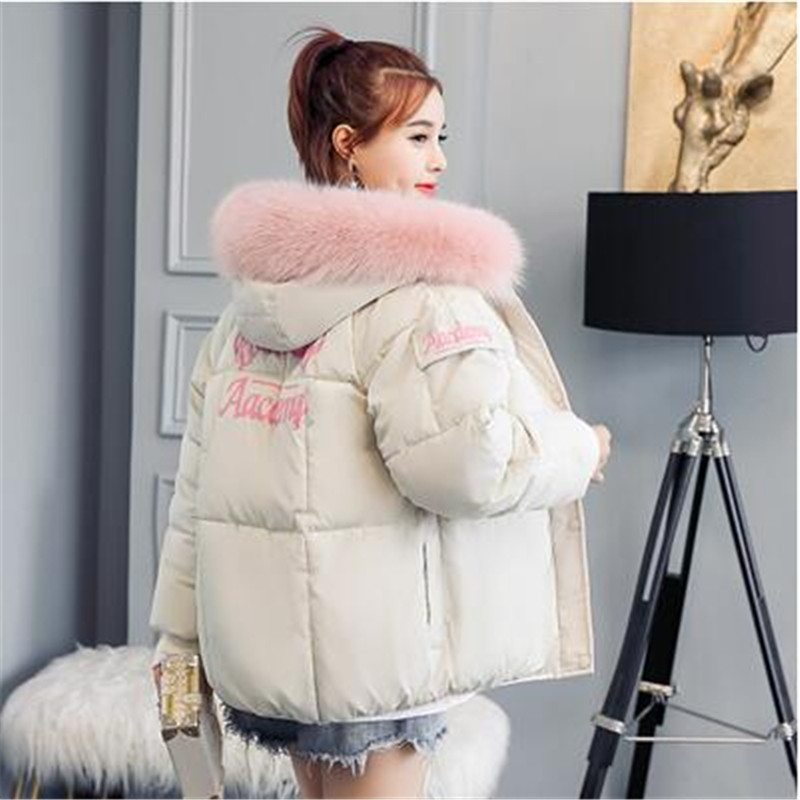 ELEXS Winter Jacket Women Hooded Warm Jackets Coat Female Big Fur Thick Outwear Winter Coat Women Ladies   Parkas   72508