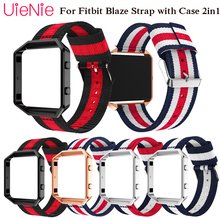 Nylon bracelet For Fitbit Blaze smart watch frontier/Classic strap with case 2in1 wristband