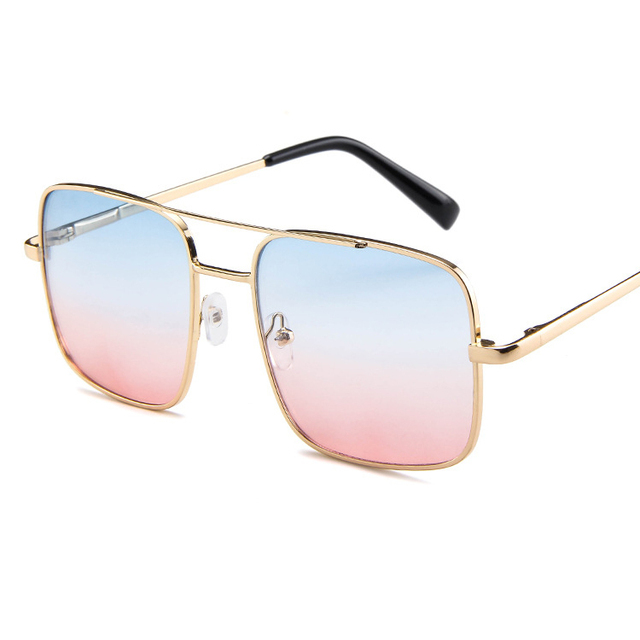 Colorful Gradient Lens Oversize Square Women's Sunglasses