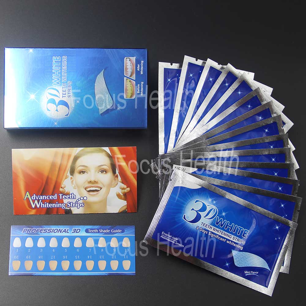 3d Teeth Whitening Strips 14 Pouches 28 Strips Tooth Whitener Bleach Bright White Dental Bleaching Care Oral Hygiene Easy To Use 农夫 山泉