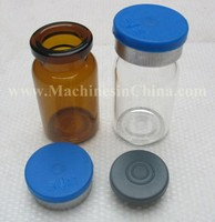 100pcs 7ml glas bottle with rubber stopper and flip cap