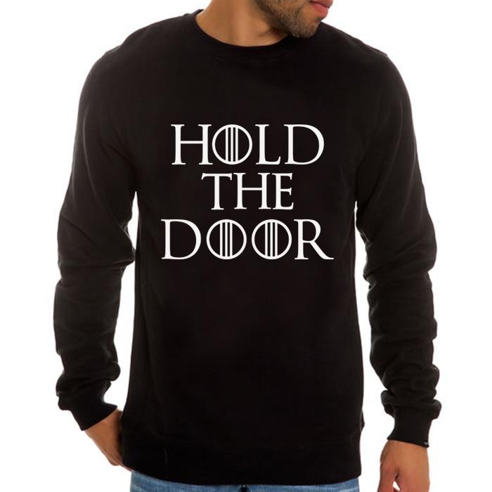 HOLD THE DOOR 2016 Game of Thrones House Stark costume hoodies Hodor song of ice and fire Brandon Stark long sleeve Sweatshirts