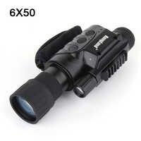 Profesional 6X50 IR visión nocturna Digital CCD Monocular visión diurna y nocturna gafas con inducción de luz para caza