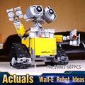2016 Nueva LEPIN 16003 687 Unids Idea Robot WALL E Kits de Edificio Modelo Bloques Ladrillos Niños Juguetes Regalo Compatible 21303
