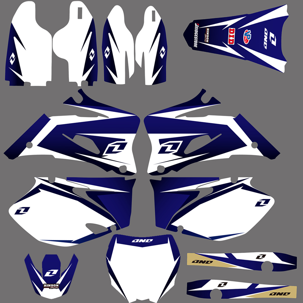 0019 New Style TEAM GRAPHICS BACKGROUNDS DECALS STICKERS Kits FIT For Yamaha YZ250F YZ450F YZ 250F 450F 2006 2007 2008 2009 Blue
