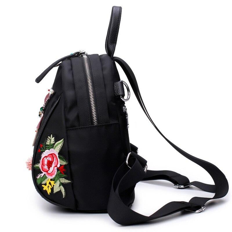 0b757f8d0f28 ... Фото 3 Рюкзак из ткани Оксфорд с вышивкой этнический рюкзак для женщин  водонепроницаемый дорожный ранец школьная ...