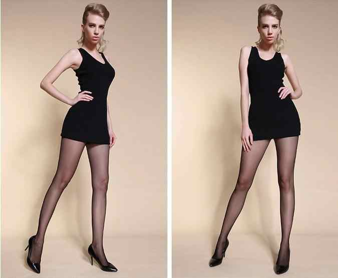 c07e266a4 ... 3Pcs Lot Semi Transparent 15D Seamless Semi Sheer Tights Women s sexy oil  Shiny pantyhose ...