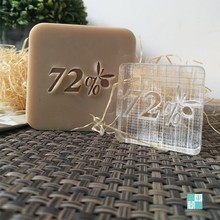 free shipping natural handmade acrylic soap seal stamp mold chapter mini diy 72% patterns organic glass 4X4 cm 0348