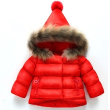 2018 Winter Baby Girls Coats Outwear Fashion Children Long Sleeve Jackets Clothing Warm Hooded Coat 1 2 3 4 5 6 Year