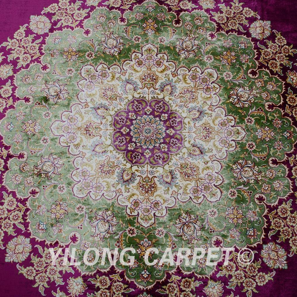 Yilong 6.56'x9.84 'на едро турски килим лилав - Домашен текстил - Снимка 5