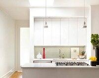 2017 Новый дизайн кухонной мебели Лидер продаж глянцевый лак современные кухонные шкафы, двери L1606005