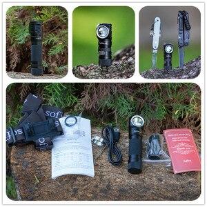 Image 5 - Sofirn SP40 HA CONDOTTO il Faro Cree XPL 1200lm 18650 USB Ricaricabile Del Faro 18350 Torcia Elettrica con Indicatore di Alimentazione Magnete Coda