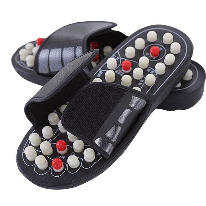 MUQGEW 1 Pairs Reflexology Sandals Foot Massager Slipper Acupressure Acupuncture Shoes Adult Indoor Massager Slipper
