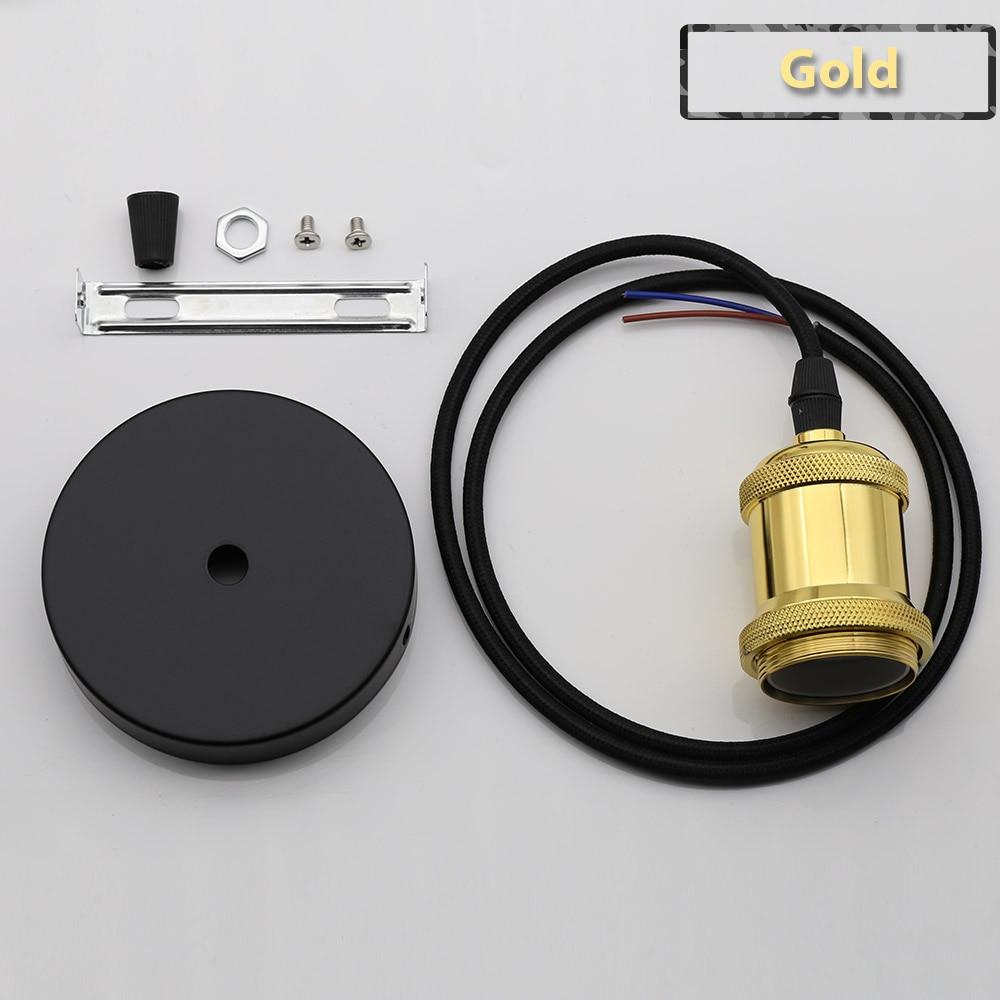 Винтажные подвесные светильники E27 патрон лампы 110V 220V винт переключения установки e27 Цоколи лампы Ретро держатель лампы edison - Цвет: Gold