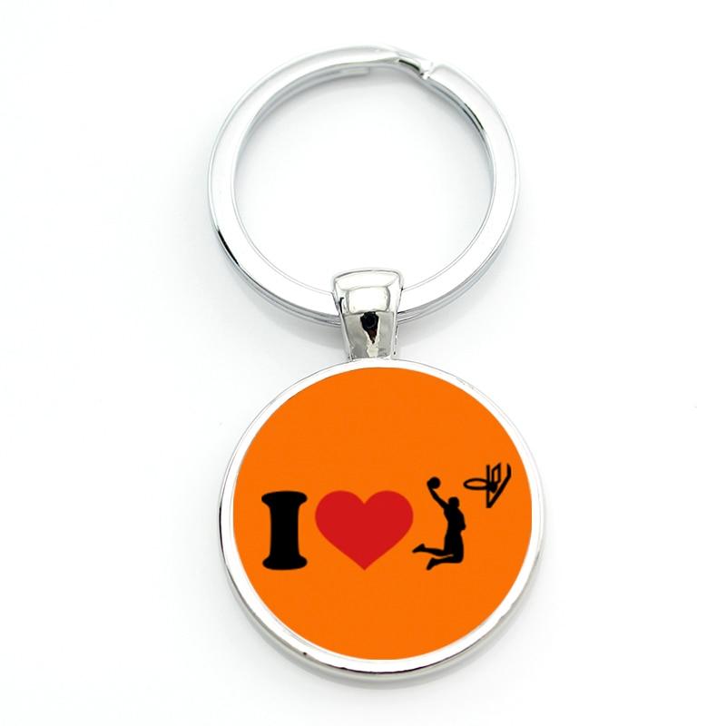 ... JWEIJIAO New I Love Basketball Keychain Top Fashion Casual Sports  Basketball Player Women Men Key Chain ... 59ecc81301