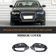 A6 S6 RS6 Carbon Fiber Replaced Side Mirror Cover for Audi A6 C7 2012 - 2016 S6 RS6 2013 - 2016 carbon fiber replaced side mirror cover for audi a6 c7 2012 2016 a6 s6 rs6 2013 2016