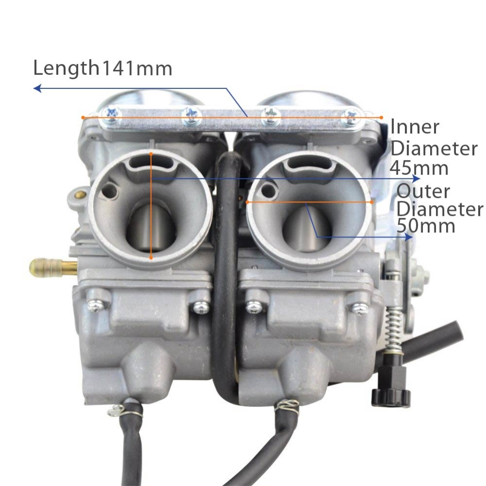 Goofit Twin Carburetor double Carburetor cylinder Carb Chamber 250cc Rebel CMX 250cc CMX250 CA250 CBT250 N090-050 125cc cbt125 carburetor motorcycle pd26jb cb125t cb250 twin cylinder accessories free shipping