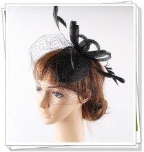 17 colors elegant sinamay material fascinator headpiece cocktail hair accessories bridal font b hat b font