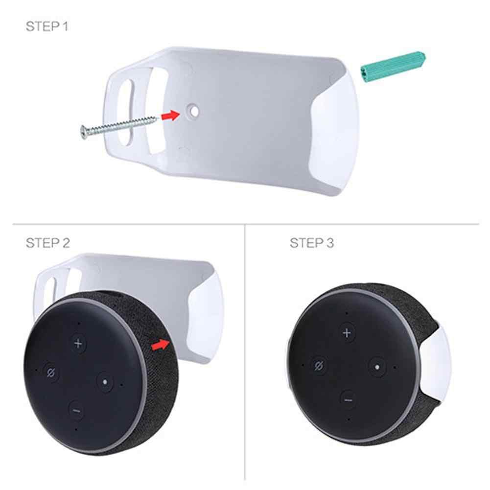 Dla Amazon Echo Dot 3 uchwyt ścienny inteligentny uchwyt Audio uchwyt wieszak na zakupy uchwyt Echo Dot (3rd Gen) inteligentny głośnik
