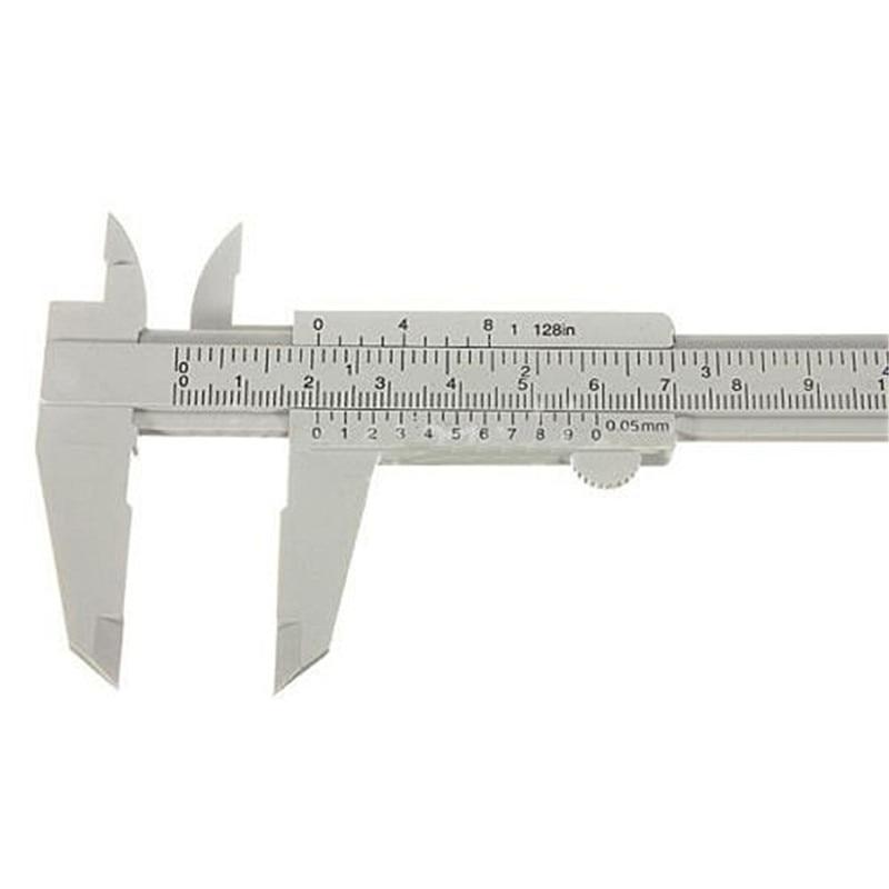 Gray 150mm Mini Plastic Sliding Vernier Caliper Gauge Measure Tool Ruler T1269 P0.11