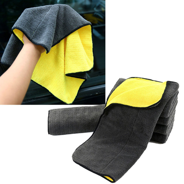 Extra macio 30*30 30*60 30*40cm lavagem de carro toalha de microfibra pano de secagem de limpeza de pelúcia cuidado de carro detalhando polimento