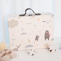 Babies cloth Neonates Suitcases Gift Boxes Maternal and Infant Cartons in Autumn and Winter gift bags baby shower boy