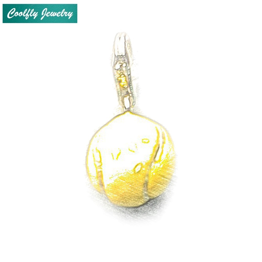 COOLFLY Tennis Ball Charms Pendant For Women,2018 New European DIY Accessories Club Making Fashion Jewelry Fit Bracelets & Bag