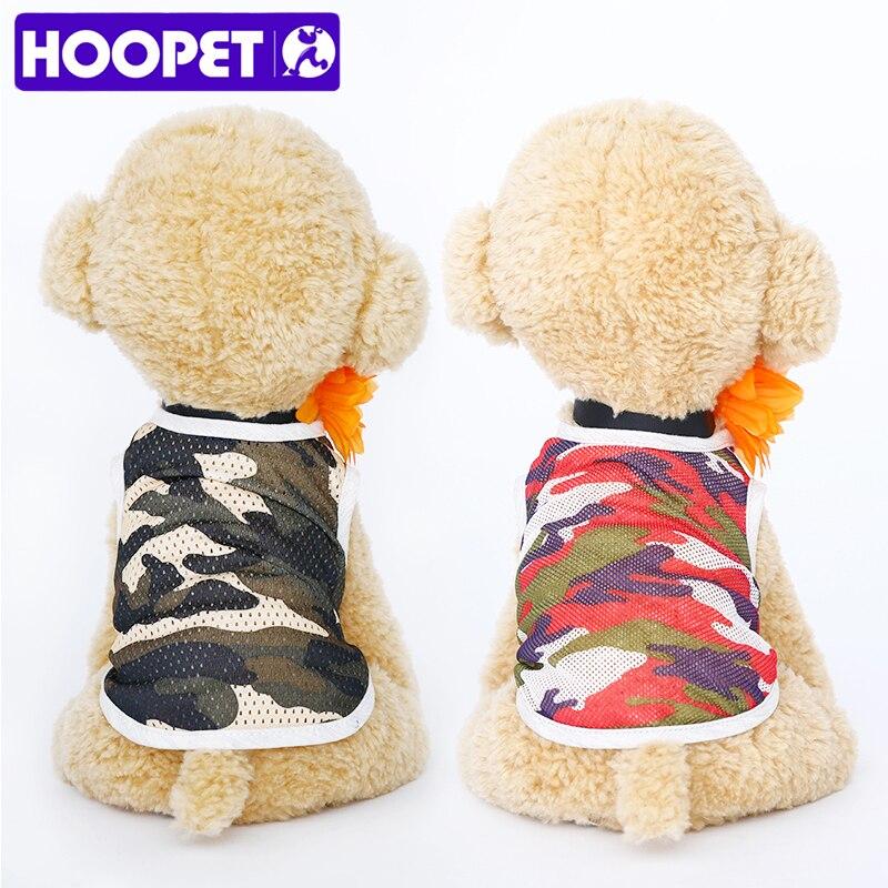 HOOPET Pet Vest Cotton Cat Hoodies Sweatshirt Pet Coat Jacket Clothes Big Dog Summer&Spring Puppy Colorful T-shirt